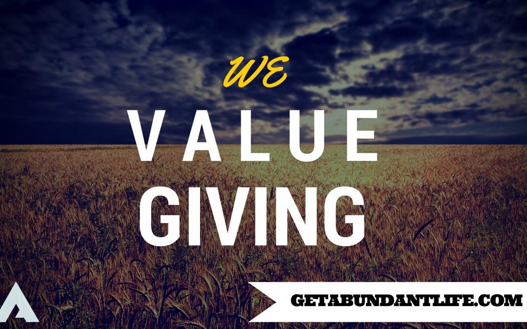 We Value Giving