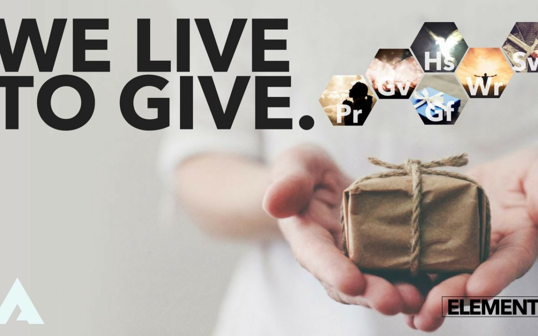 We Live to Give