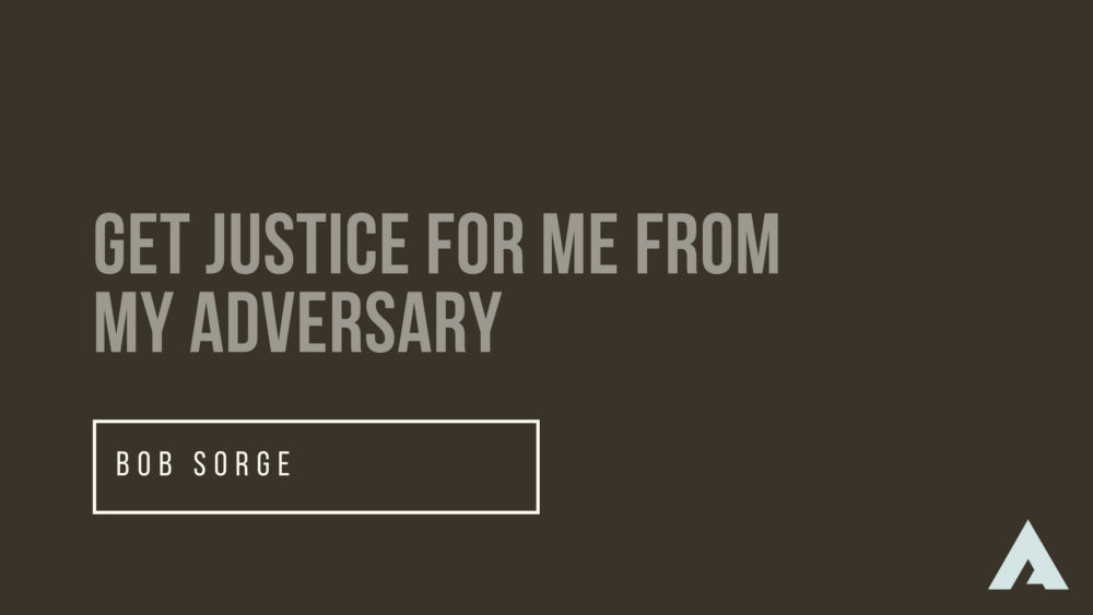 Get Justice for Me From My Adversary Image