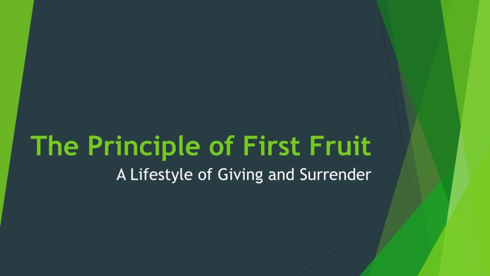 A Lifestyle of Giving and Surrender II